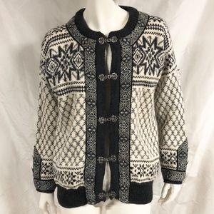DALE OF NORWAY Heavy Wool Sweater Cardigan